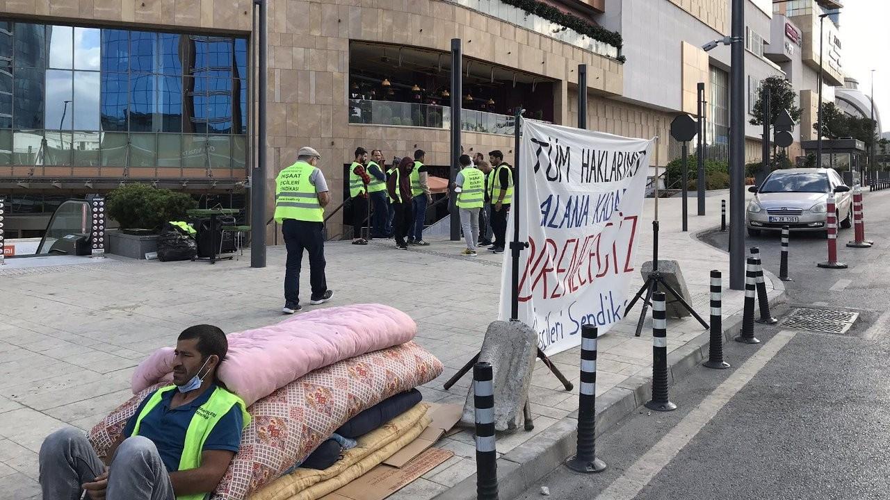 İnşaat işçileri direnişte: Paramızı almadan gitmeyeceğiz