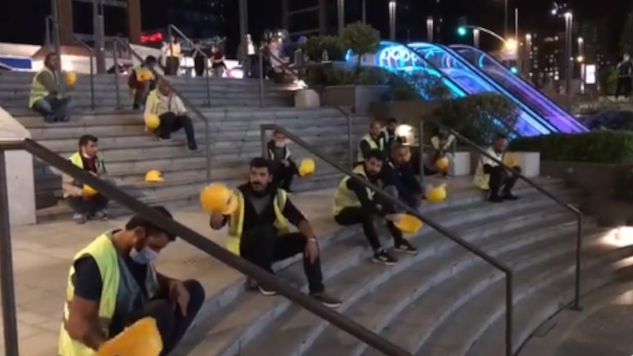 İnşaat işçilerinin direnişi gece gündüz sürüyor