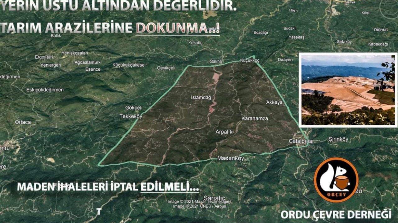 Ordu'nun yüzde 80'i maden sahası ilan edildi