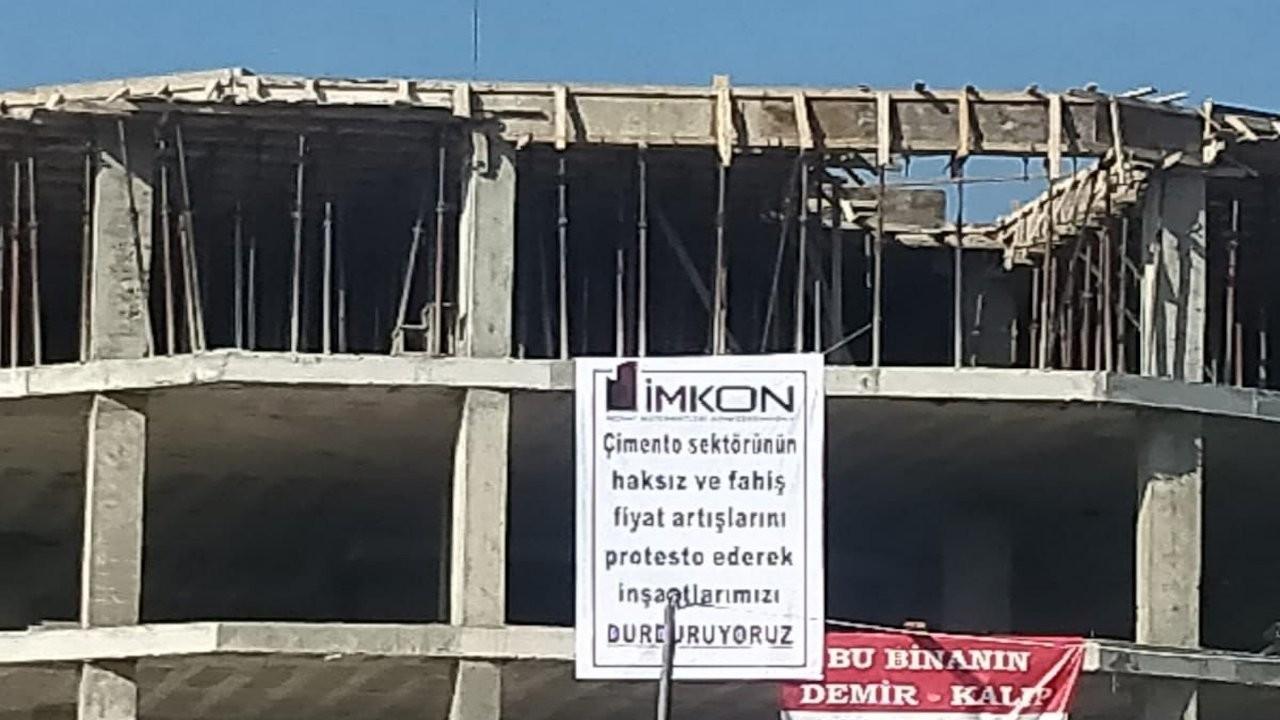 Müteahhitler boykota başladı, inşaatlar durdu