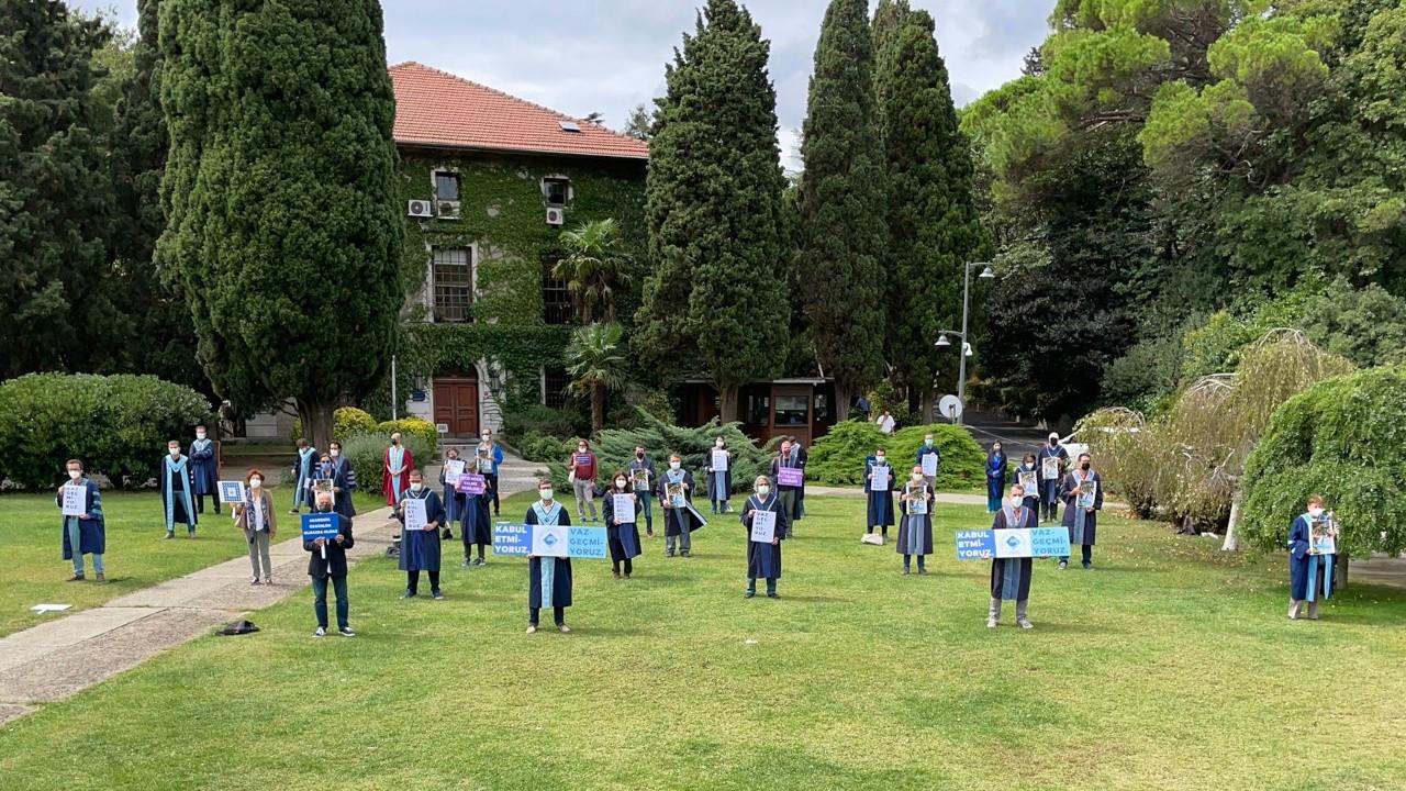 Boğaziçi'nde akademisyenlerin nöbeti 250'nci günde