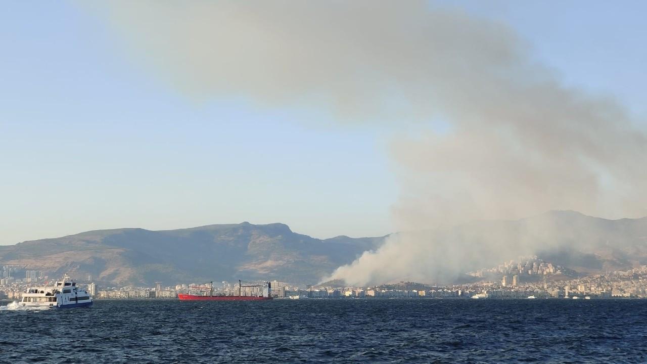 Karşıyaka'daki orman yangını söndürüldü