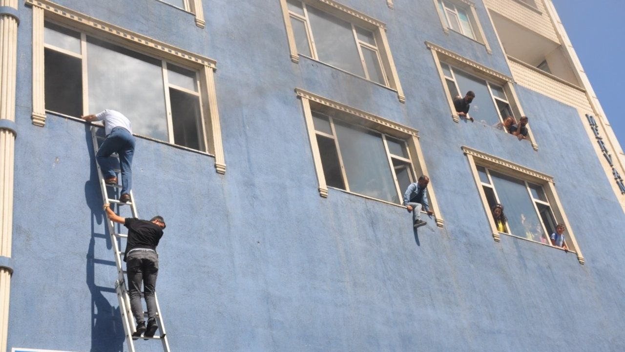 Muş'ta 6 katlı binada facia yaşanıyordu