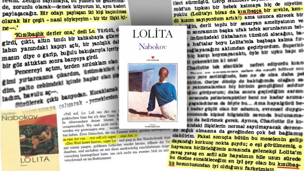 'Lolita' romanında yer alan 'inzest' kelimesinin Türkçe'ye 'kızılbaş' olarak çevrildiği ortaya çıktı