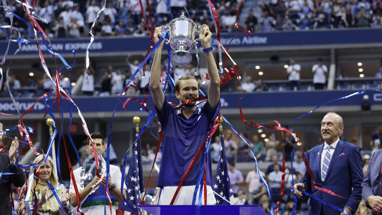 ABD Açık tek erkeklerde şampiyon Medvedev