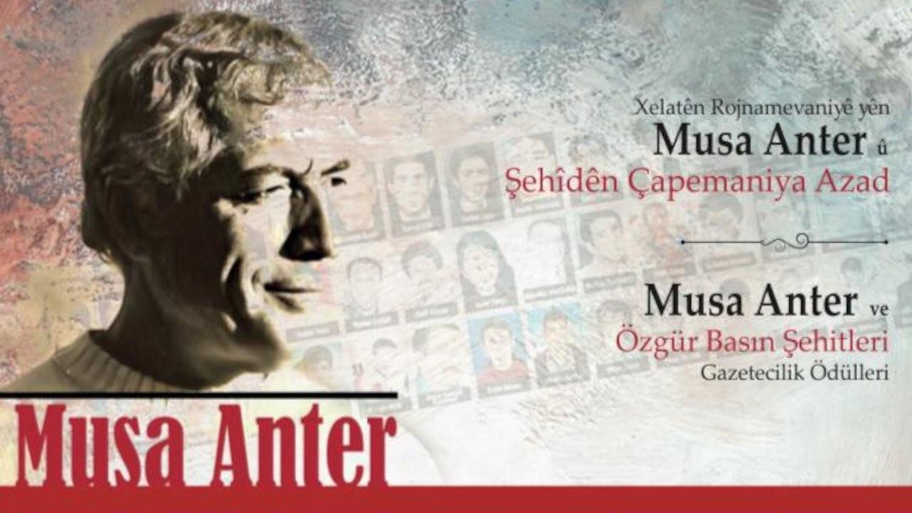 Musa Anter Gazetecilik Ödülleri, 20 Eylül'de sahiplerini bulacak