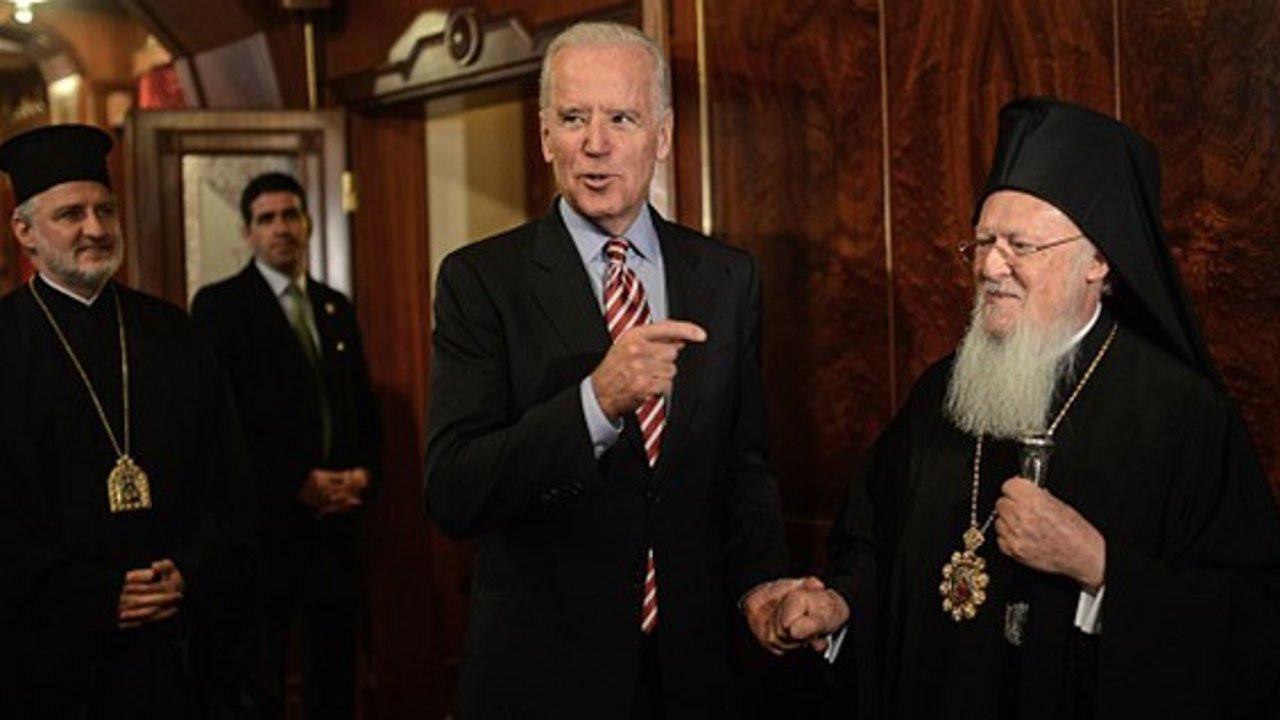 Joe Biden Fener Rum Patriği Bartholomeos'u Beyaz Saray'da ağırlayacak