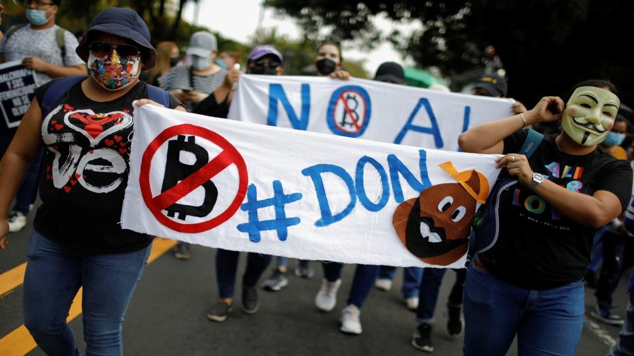 El Salvador'da Bitcoin protestoları: Binlerce kişi sokağa döküldü