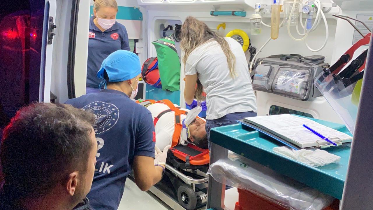 'Kiracı adamım çalışmam lazım' diyerek ambulanstan inmek istedi