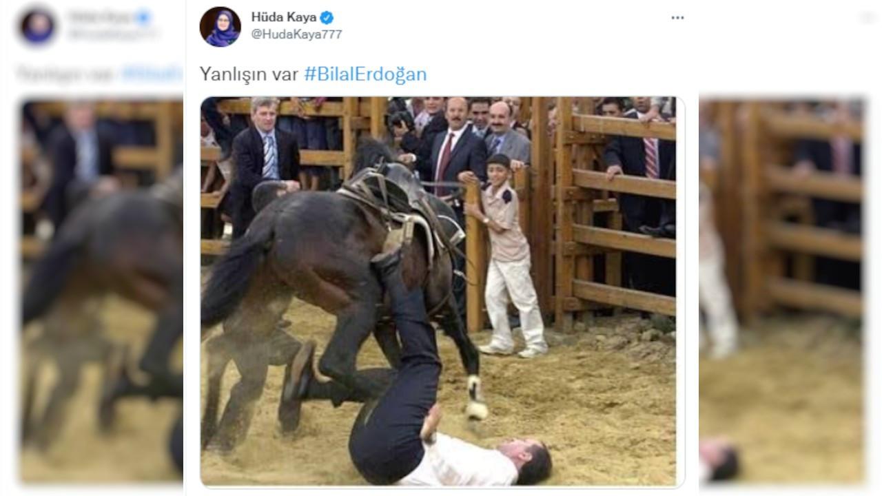 Bilal Erdoğan 'At üstünde yükselmiş milletin evladıyız' dedi, Hüda Kaya fotoğraf paylaştı: Yanlışın var