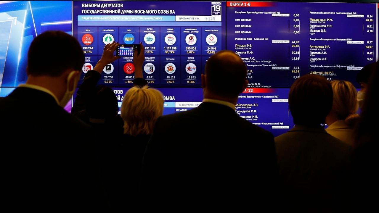 Rusya'da oy verme işlemi sona erdi, katılım yüzde 45'te kaldı