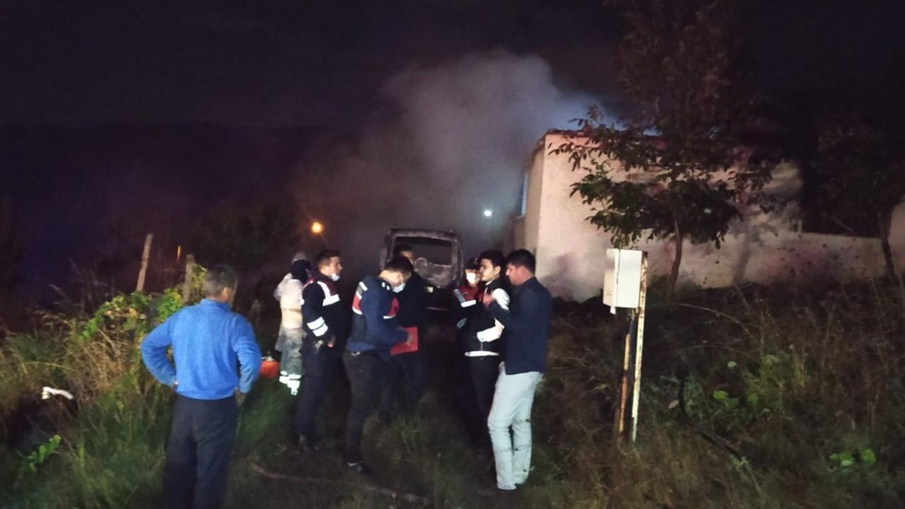 Baba ve üç çocuğu yangında vefat etti