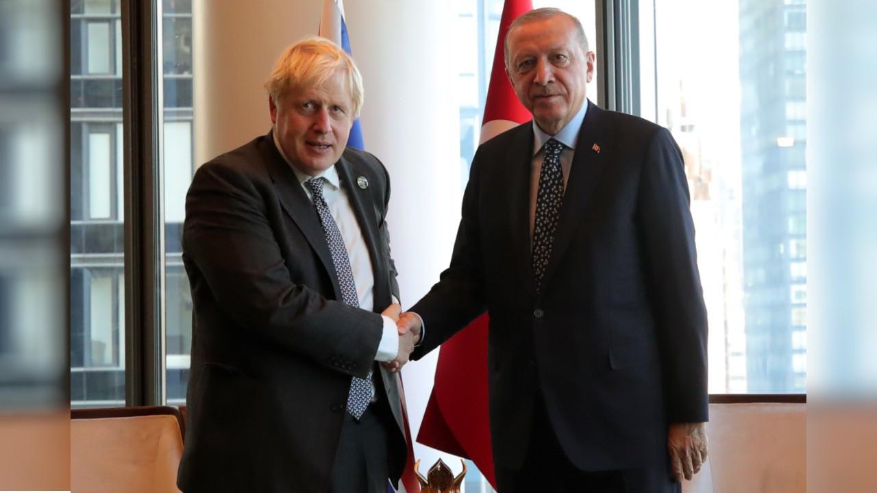 Erdoğan, New York'ta İngiltere Başbakanı Johnson'la görüştü