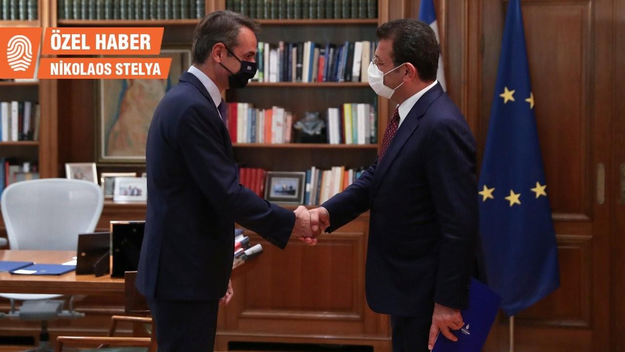 İmamoğlu Atina'da Yunanistan Başbakanı Miçotakis'le görüştü
