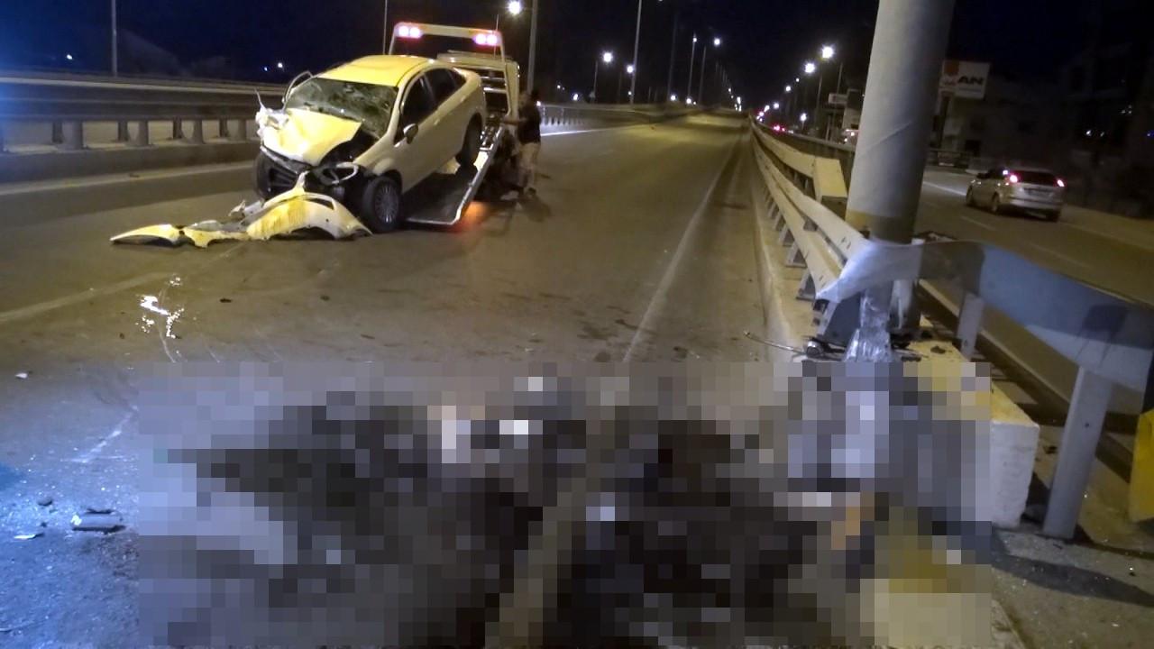 Otostopla bindiği otomobil kaza yapınca öldü