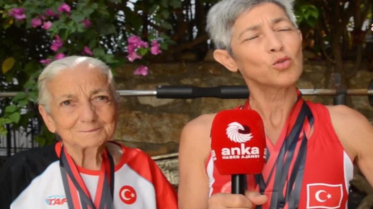 83 yaşındaki anne ve 56 yaşındaki kızı Balkanlardan 8 madalyayla döndü