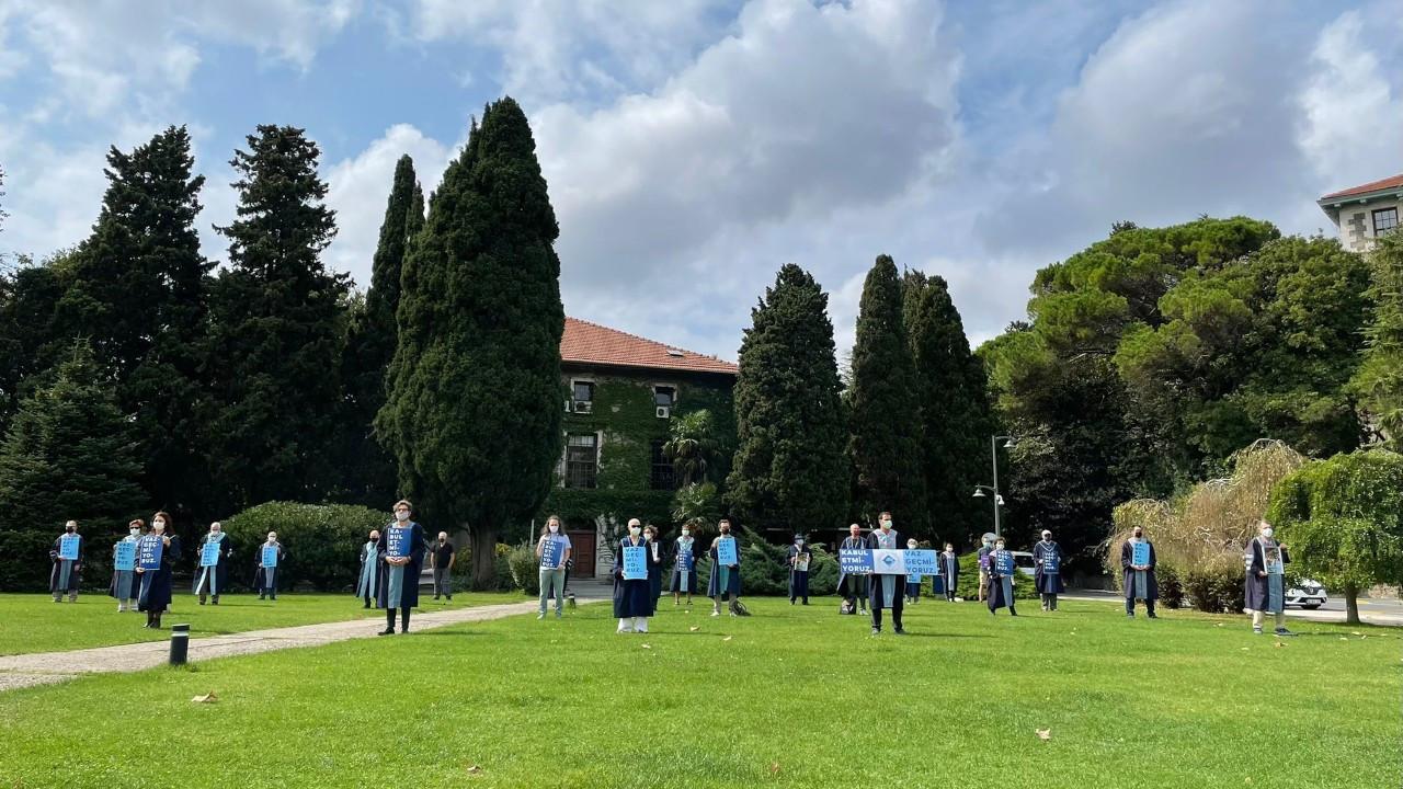 Boğaziçi'nde akademisyenlerin nöbeti 262'nci gününde: Kabul etmiyoruz