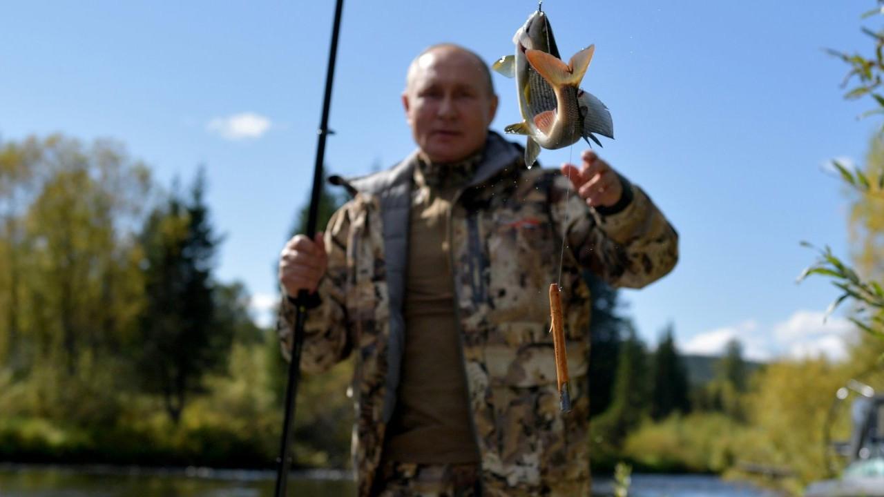 Putin'in Sibirya tatilinin fotoğrafları yayınlandı