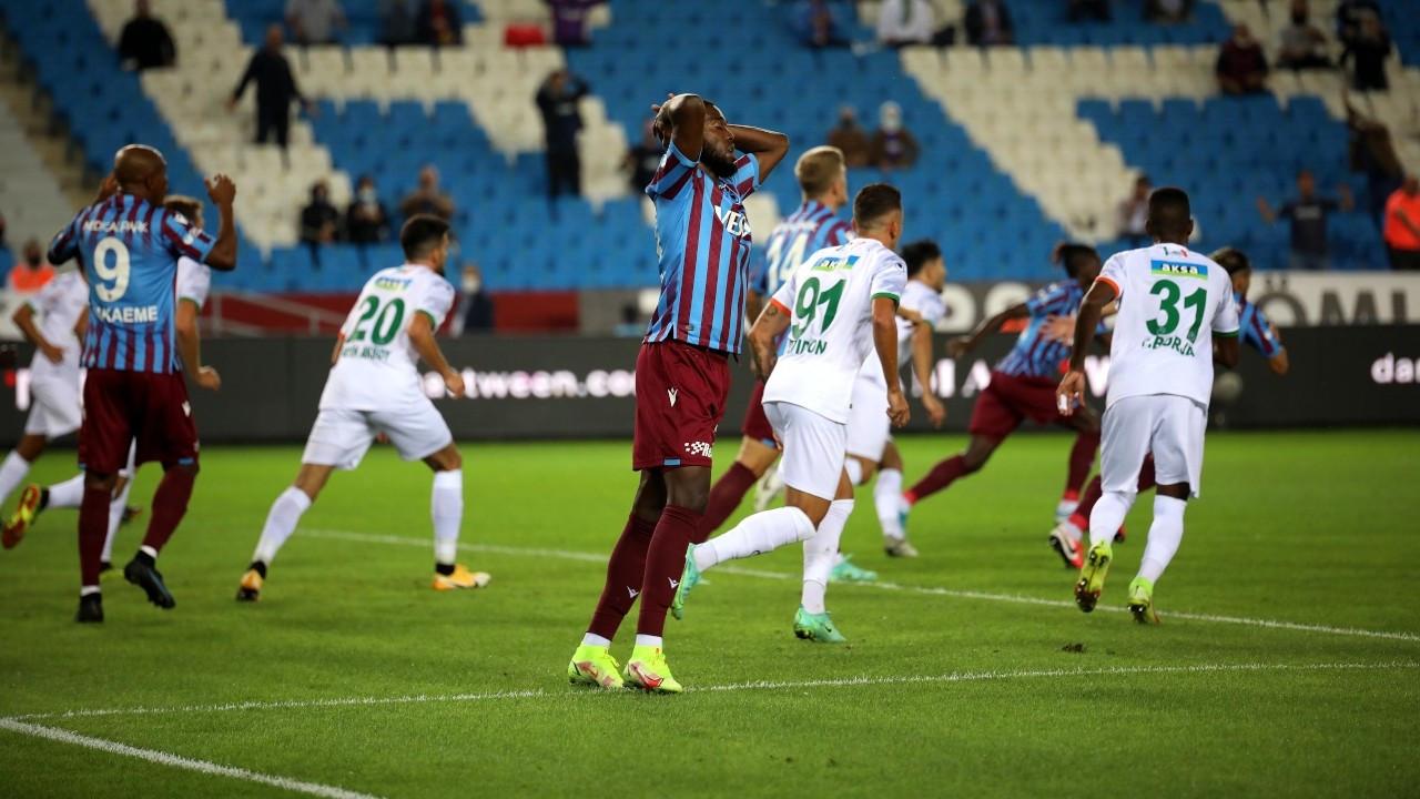 Trabzonspor ikinci hafta da galibiyeti bulamadı: 1-1
