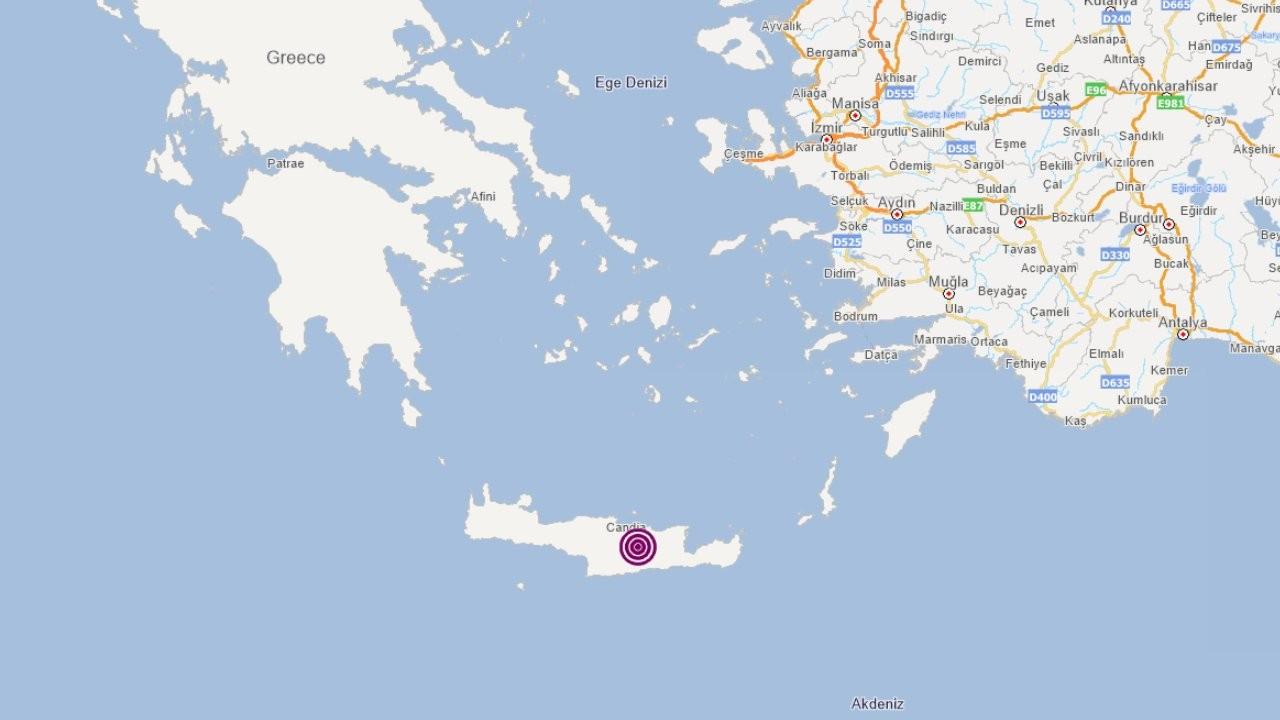 Girit'te 5,2 büyüklüğünde deprem