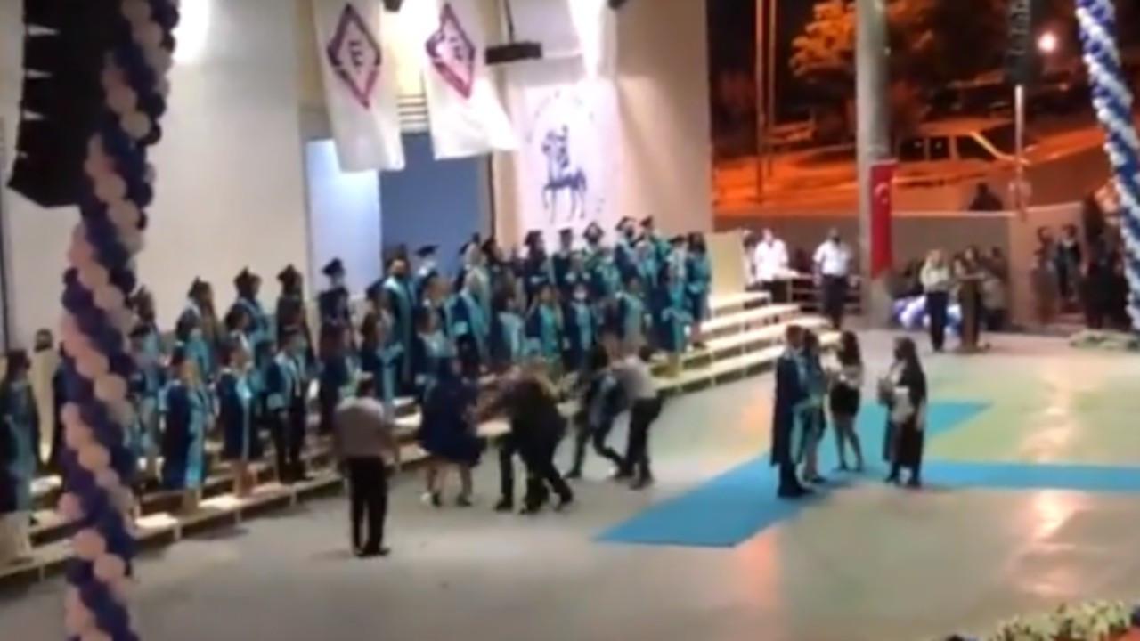 Dokuz Eylül mezuniyetinde 'İstanbul sözleşmesi' yazılı maske takan öğrencilere ÖGB saldırdı