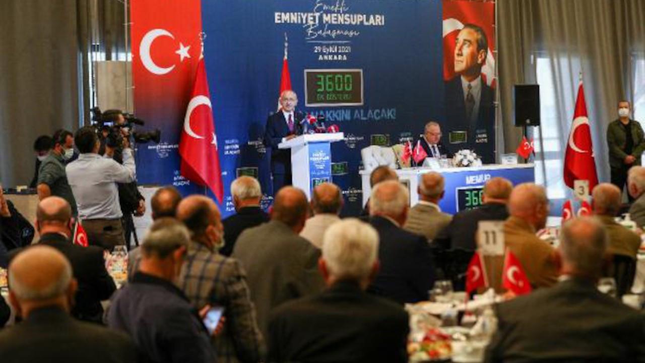 Kılıçdaroğlu emekli polislerle buluştu