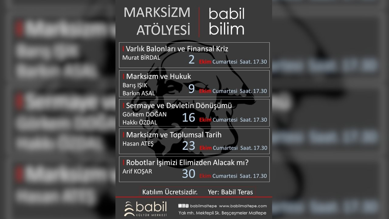 Babil Kültür Merkezi'nde Marksizm Atölyesi