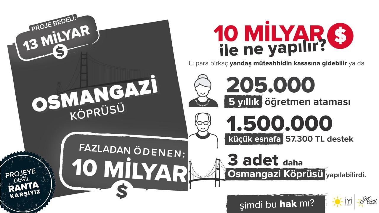 'Osmangazi Köprüsü'nde fazladan 10 milyar dolar ödendi: Bu hak mı?'
