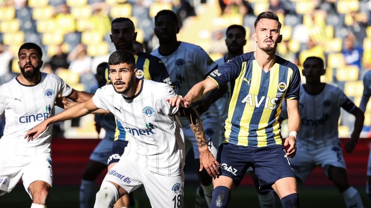 Fenerbahçe liderliğini sürdürdü: 2-1