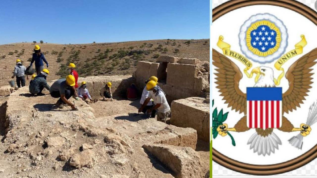 Diyarbakır'daki Zerzevan kazısında ABD rozeti bulundu