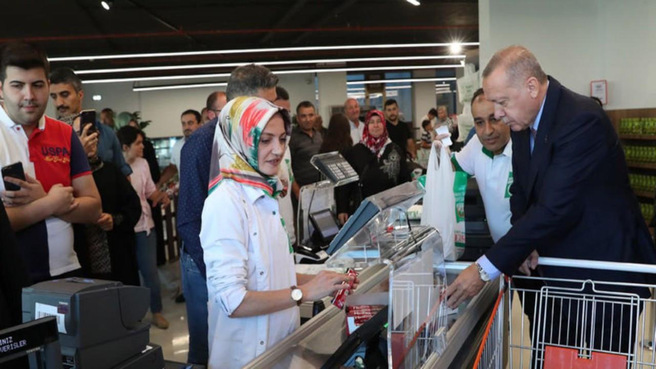 Erdoğan'ın 'uygun fiyatlı' alışverişi 1002 TL tuttu