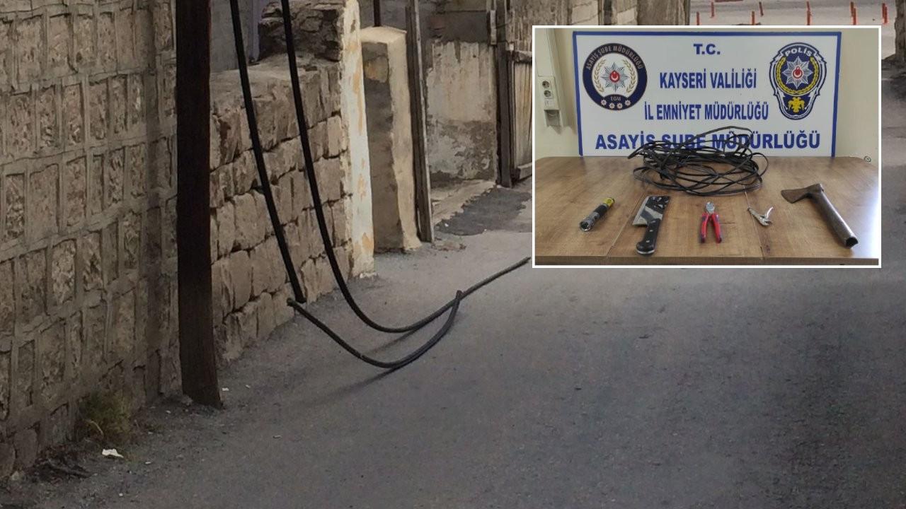 100 bin liralık kablo çalan kişi tutuklandı