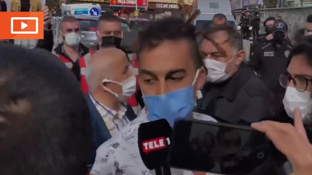 Boğaziçili öğrenci röportaj verdiği sırada gözaltına alındı