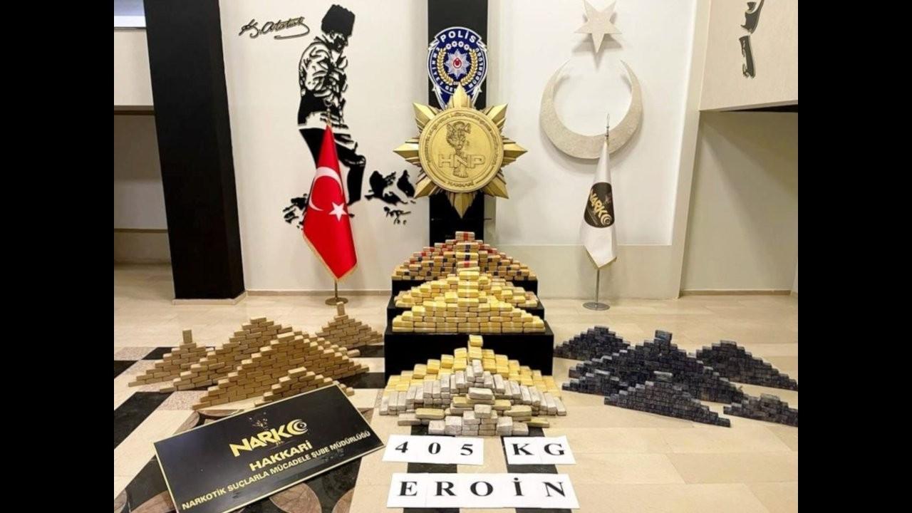 Soylu eroin operasyonlarını, 'Türk polisi yakalar' diyerek duyurdu
