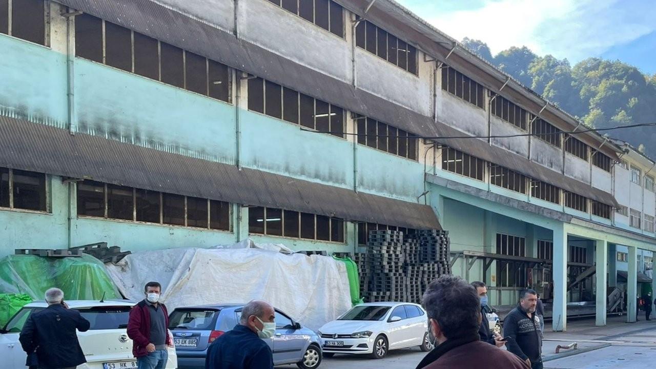 ÇAYKUR fabrikasında patlama: 1 işçi öldü, 1 işçi yaralandı