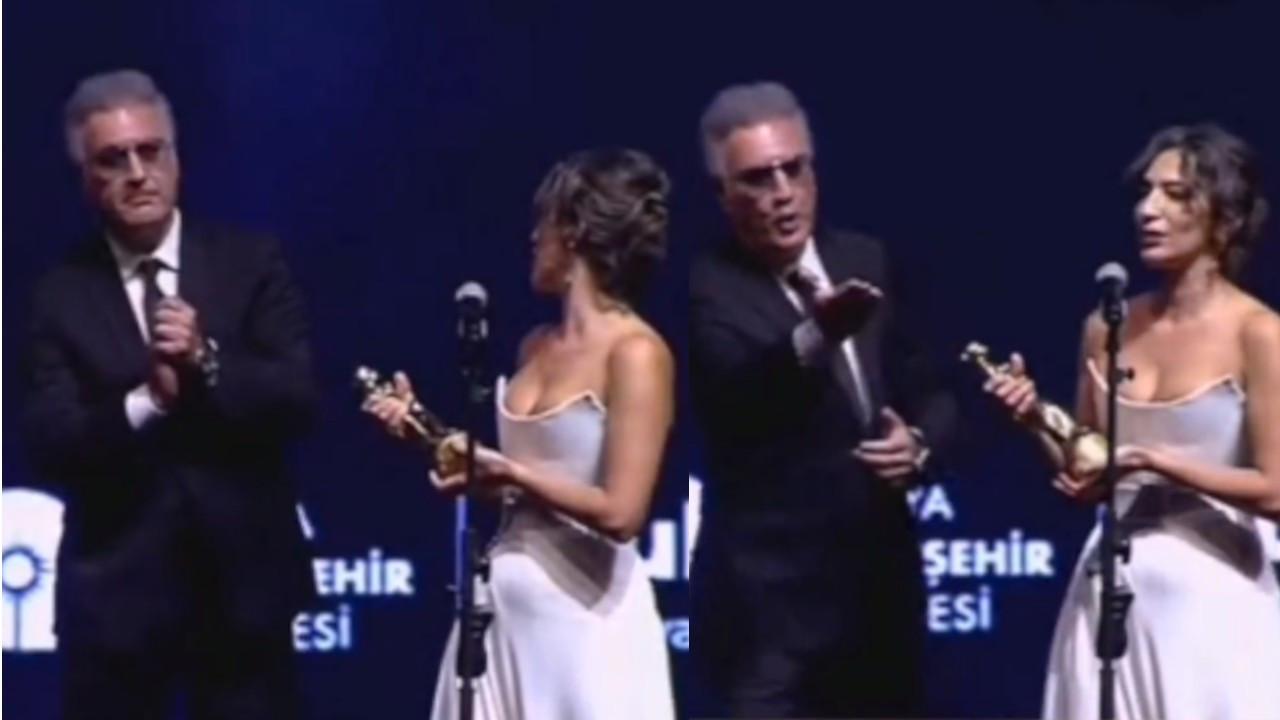 Altın Portakal'da ödül gerginliği: Tamer Karadağlı, Nihal Yalçın'ın konuşmasını sabote etti