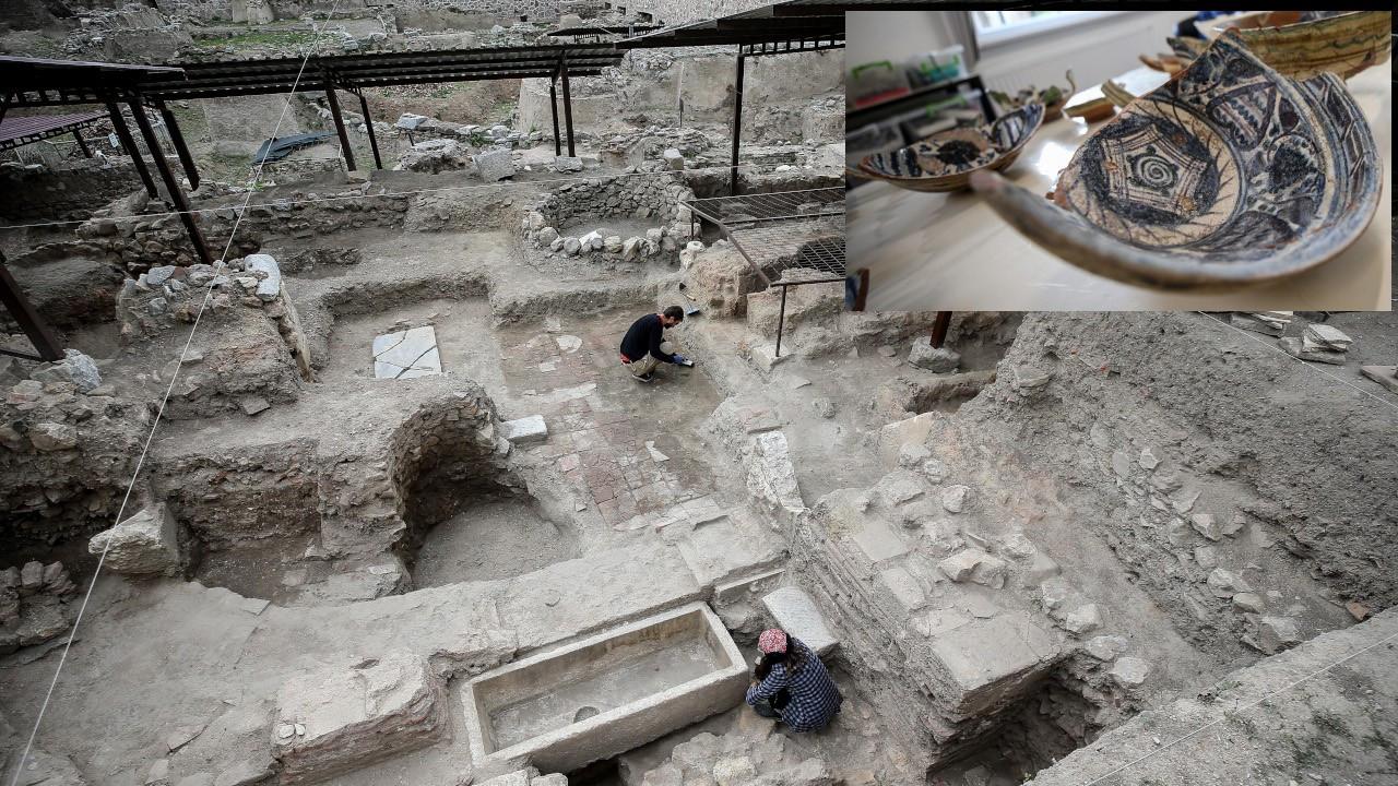 İznik'te 600 yıllık kırmızı hamurlu seramikler bulundu