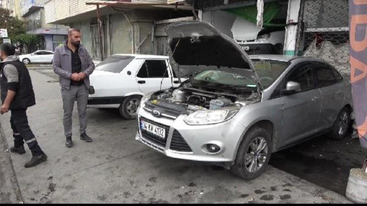 'Canavar gibi' denilen otomobilin motoru yandı