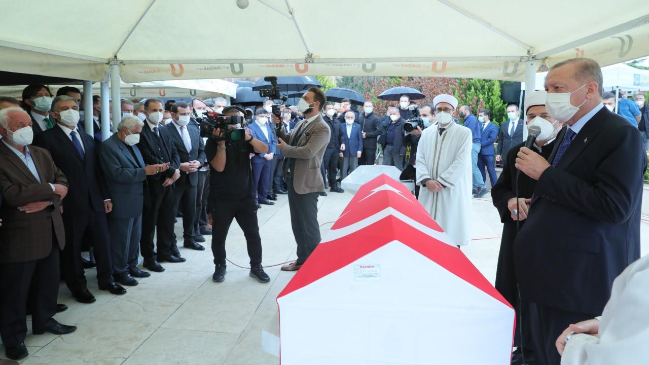 Erdoğan, İsmet Uçma'nın cenazesine katıldı