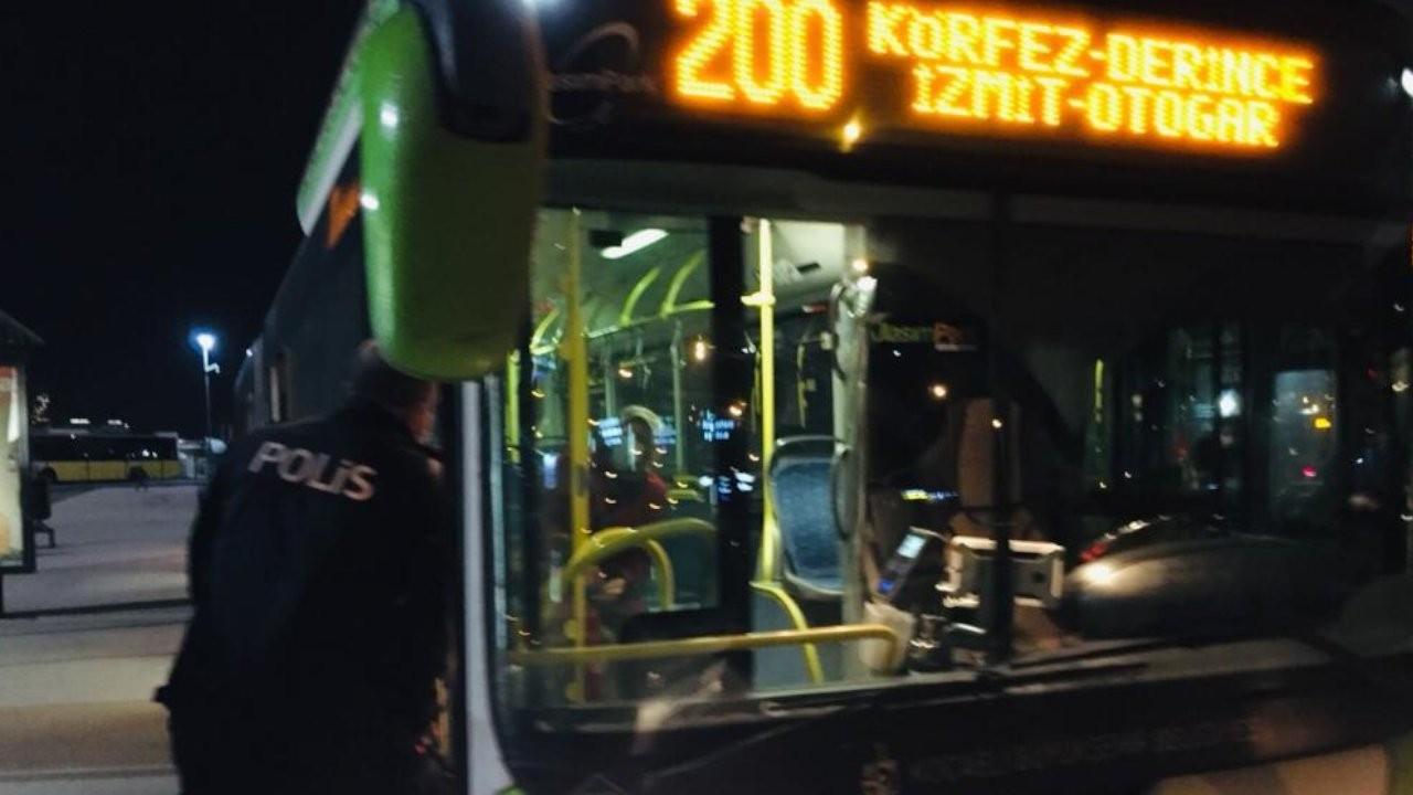 Koronalı yolcu belediye otobüsünden inmedi