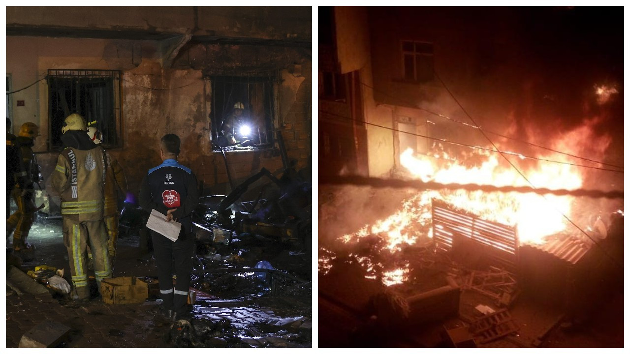 Esenyurt'ta doğal gaz kutusu yandı