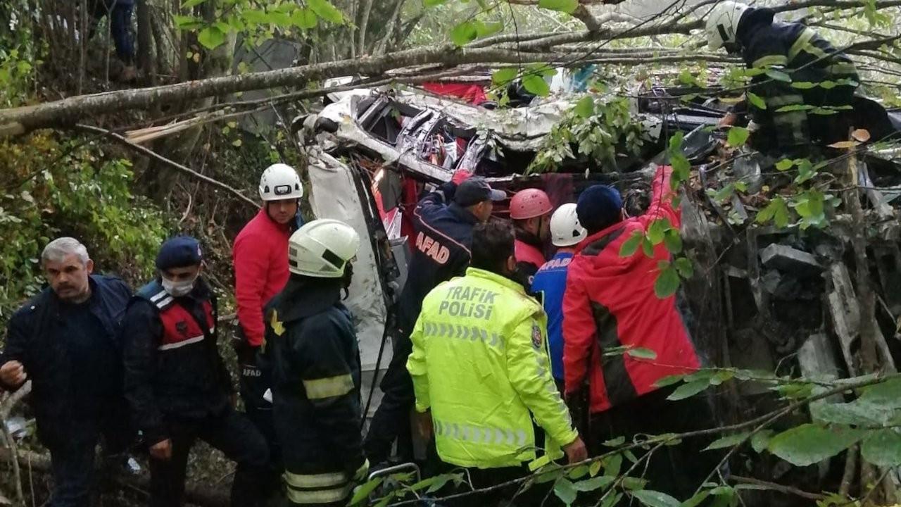 Samsun'da yolcu otobüsü uçuruma yuvarlandı: 2 ölü, 15 yaralı