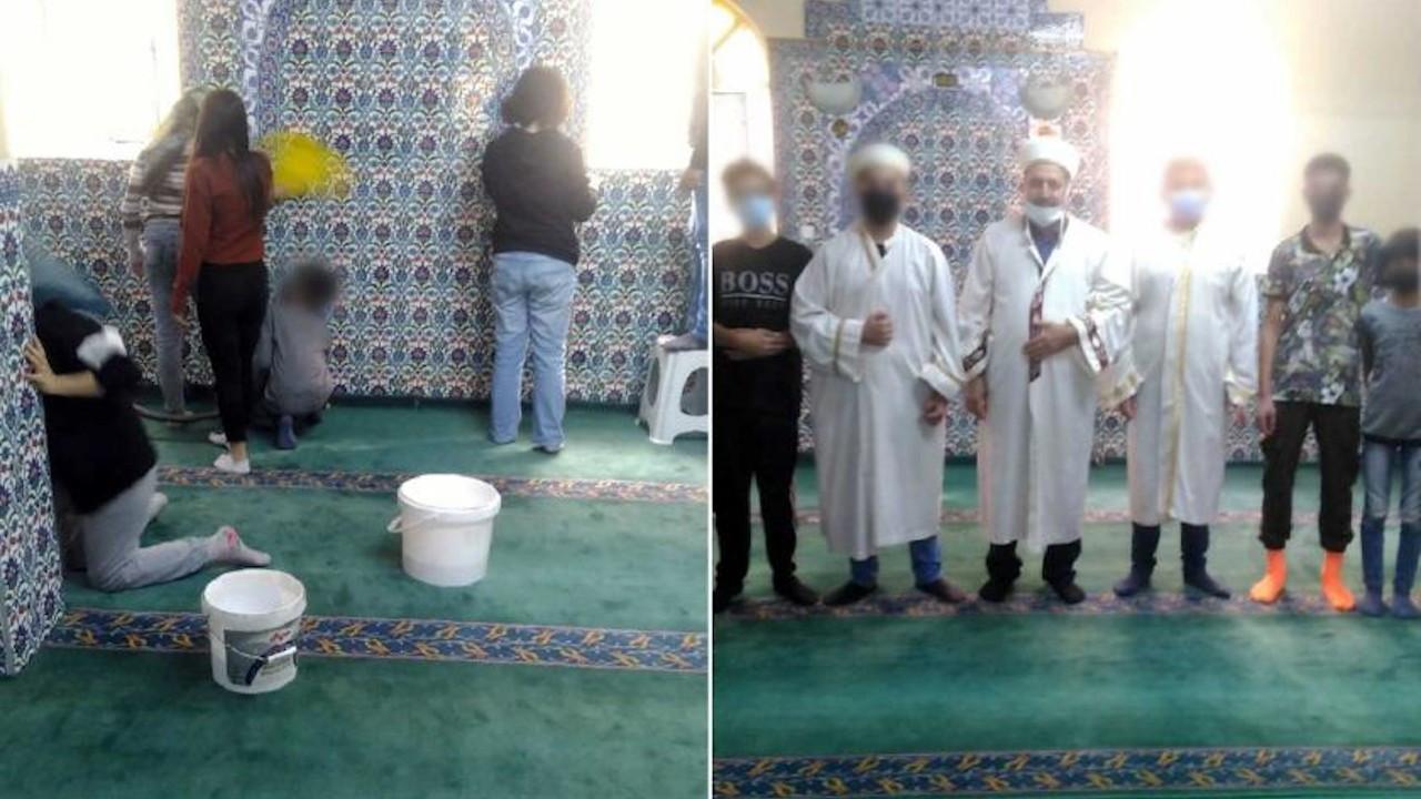 Öğrencilere 'sosyal etkinlik' adı altında cami temizlettiler