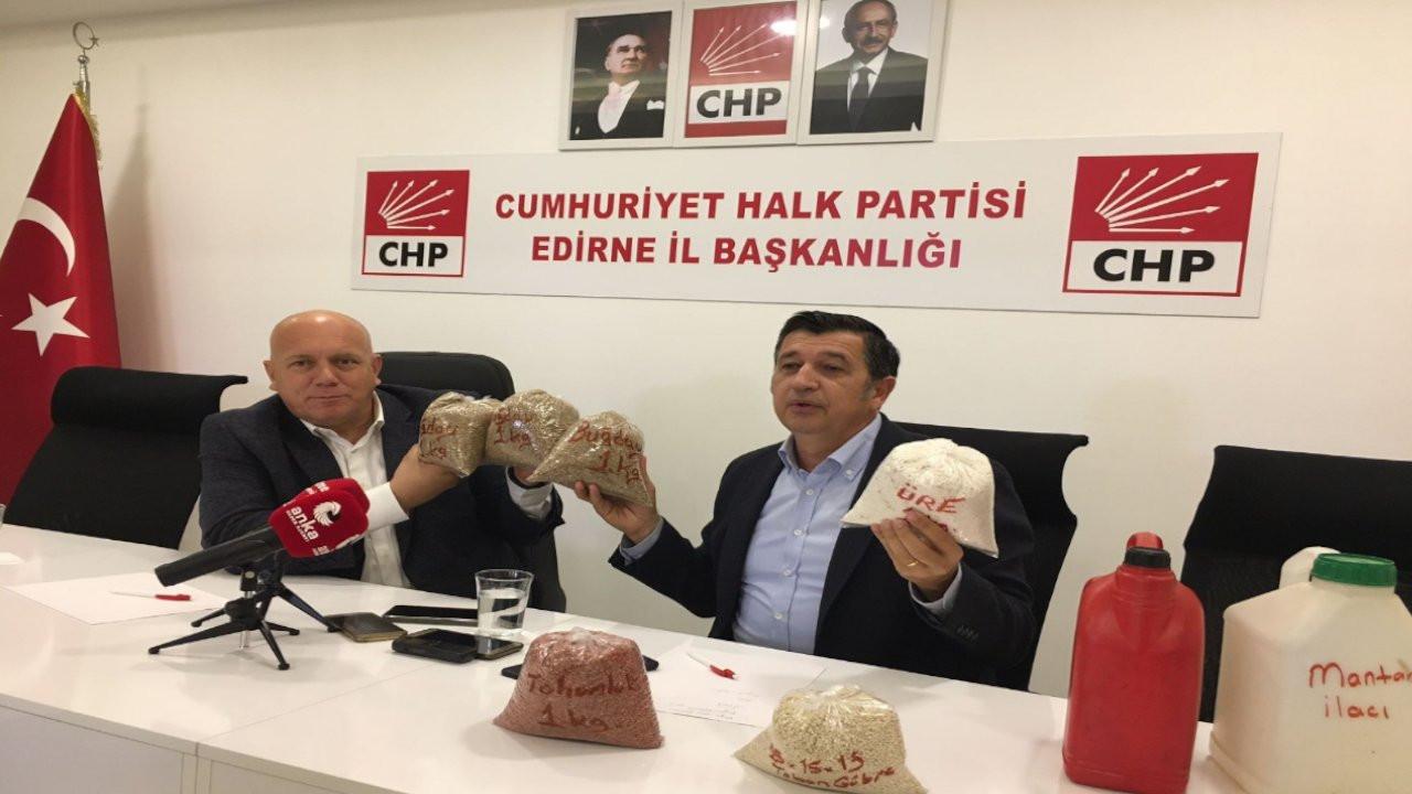 CHP'liler tohum ve mazotlu toplantı yaptı