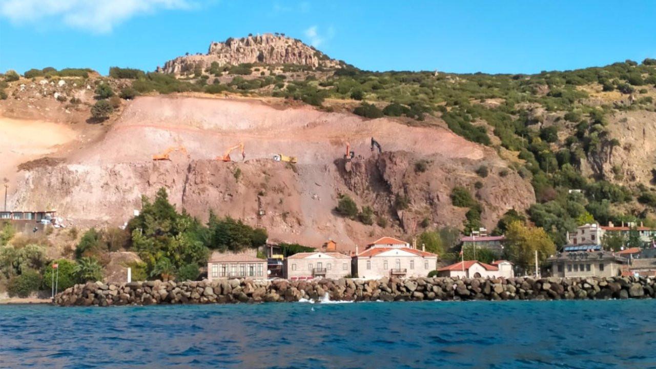 Assos Antik Limanı'ndaki kaya ıslahına üç ayrı dava