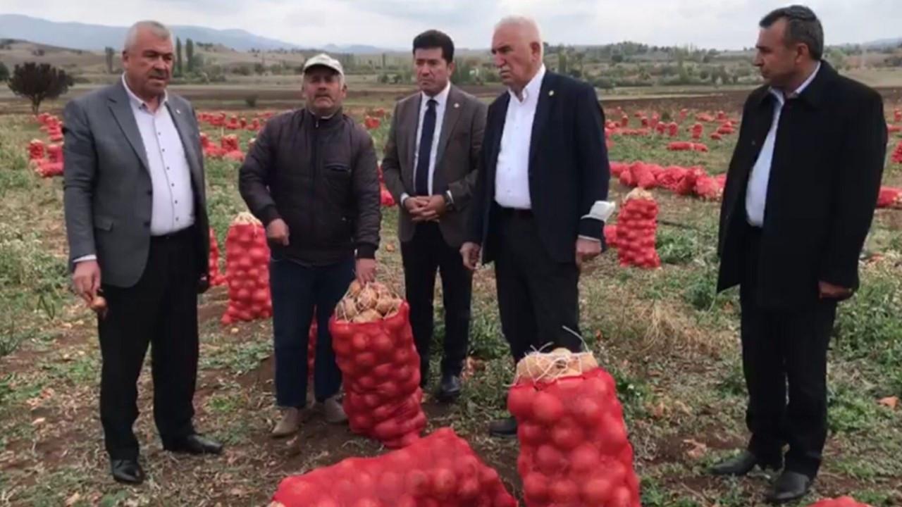 Soğan tarlada kaldı: Maliyeti 80 kuruş ama 40 kuruşa satılmıyor