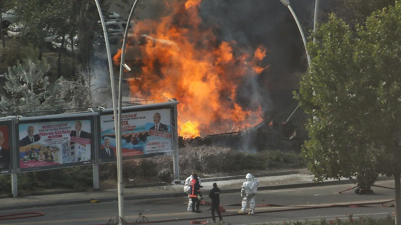 Ankara'da MTA önünde doğalgaz patlamaları oldu