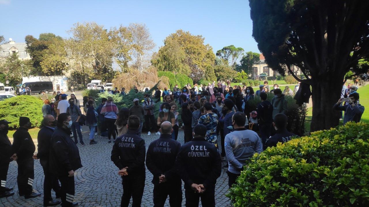 Özel güvenlik Boğaziçililerin çadırını kaldırdı, kampüse polis girdi