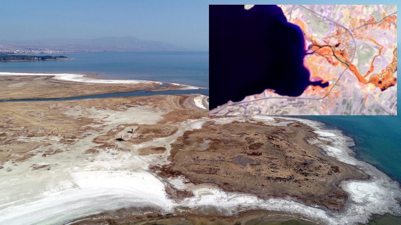 Uydudan görüntülendi: Van Gölü'nün şekli değişiyor