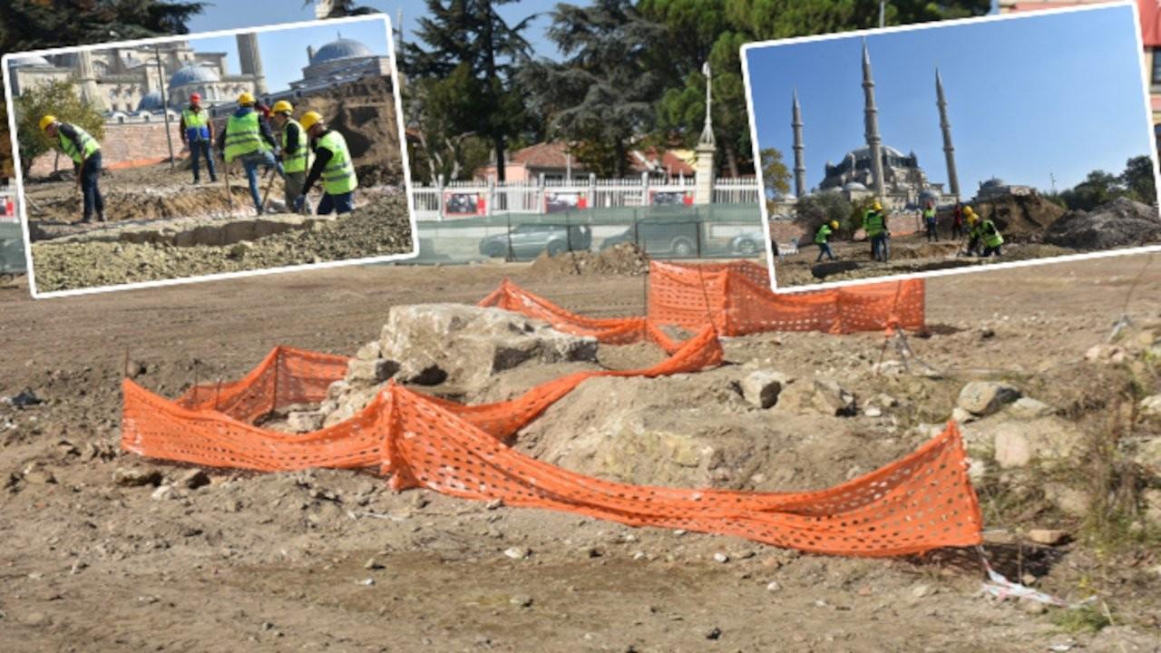 Selimiye Camisi çevresinde Roma aile mezarları bulundu